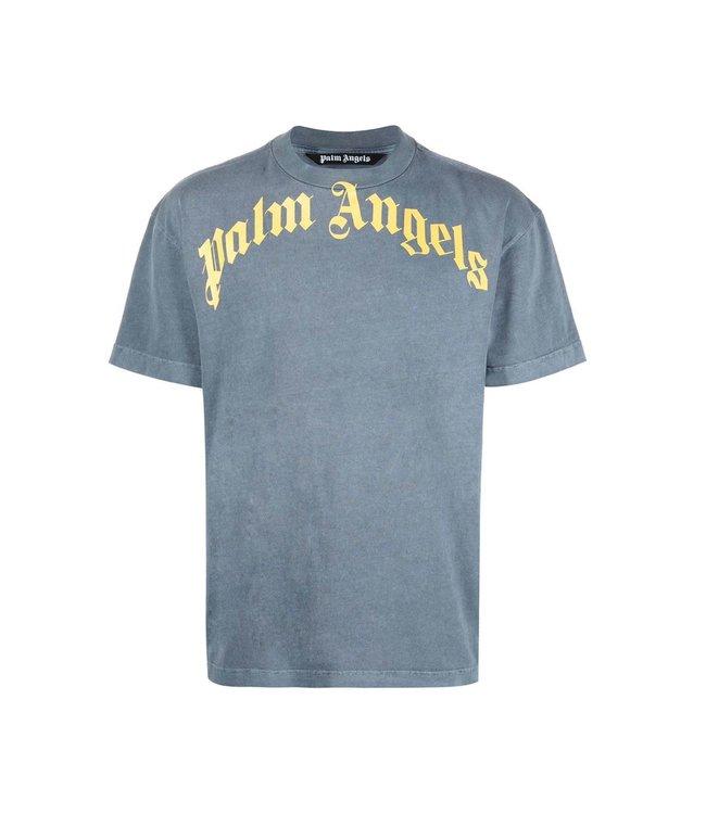 Palm Angels Palm Angels : Vintage wash logo-Navy