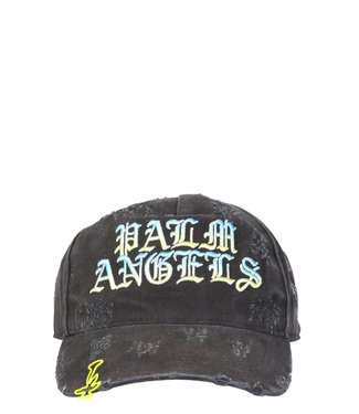 Palm Angels Palm Angels : Cap Gothic logo-Black