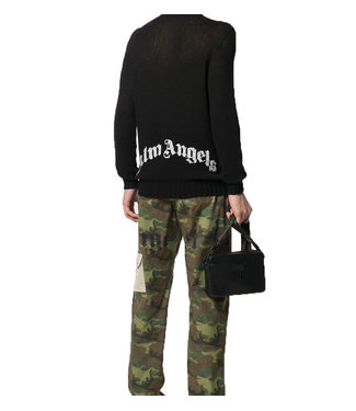 Palm Angels Palm Angels : Sweater logo-Black