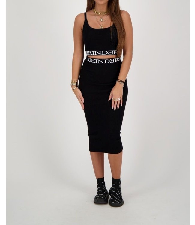 Reinders Reinders : Skirt Intarsia-Black