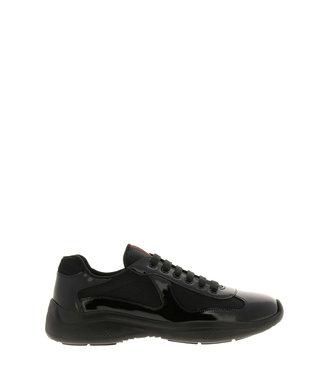 Prada Prada : New america's cup bike fabric sneakers-Black