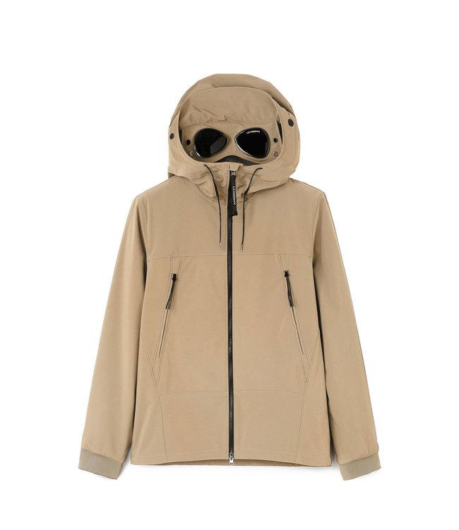 C.P Company Shell-R Medium Goggle Jacket-Beige