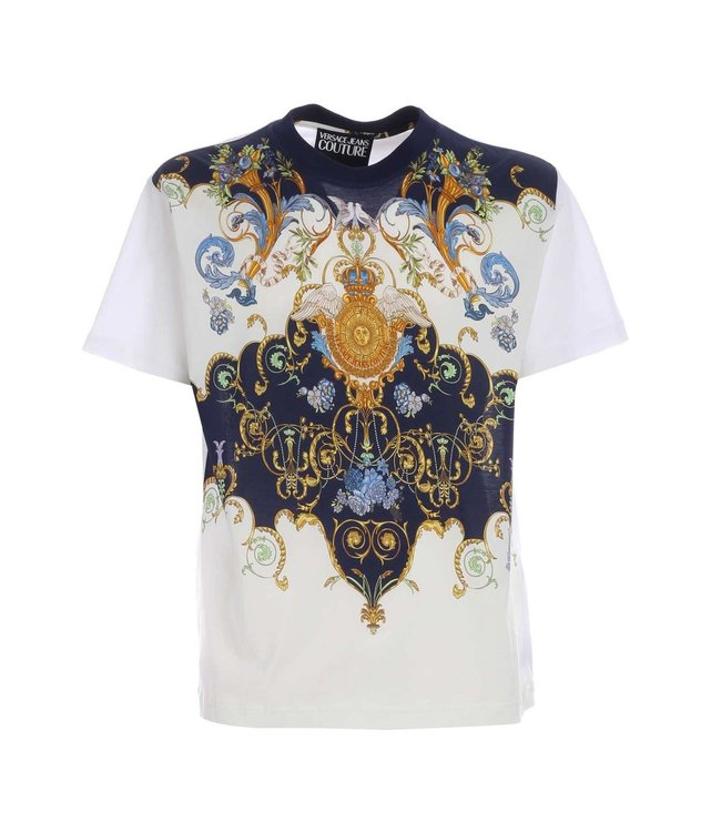 Versace Jeans couture Versace jeans : T-shirt panel tuillereis-White