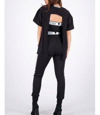 Reinders Reinders : T-shirt open back-Black