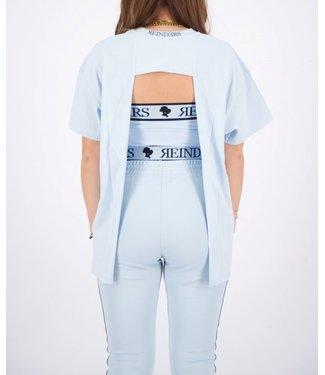 Reinders Reinders : T-shirt open back-Baby Blue