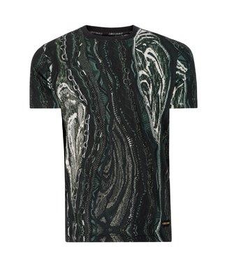 Carlo colucci CARLO COLUCCI : T-Shirt Black-Grey
