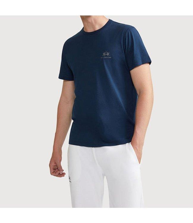 La Martina La Martina : T-shirt logo-Navy