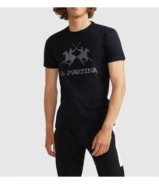 La Martina La Martina : T-shirt Big logo-Black