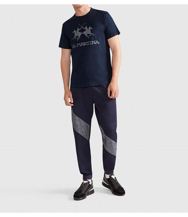 La Martina T-shirt Big logo-Navy