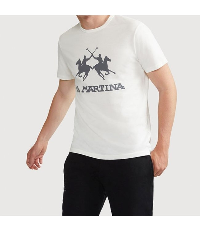 La Martina La Martina : T-shirt Big logo-White