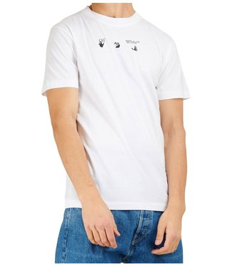 OFF-WHITE OFF-WHITE : Tee Peace world wide-White