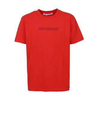 OFF-WHITE OFF-WHITE : Tee Pascal slim-Red