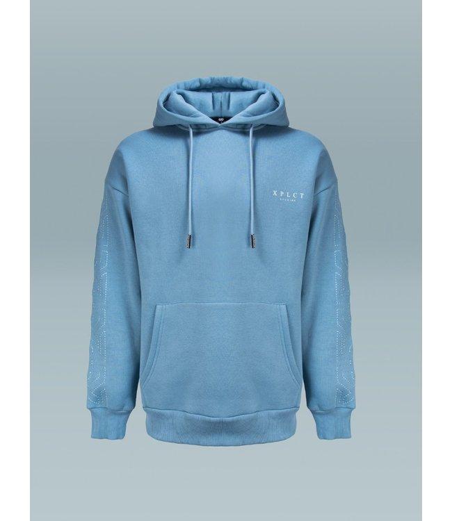 Xplicit Xplicit : Brand hoodie- Aqua