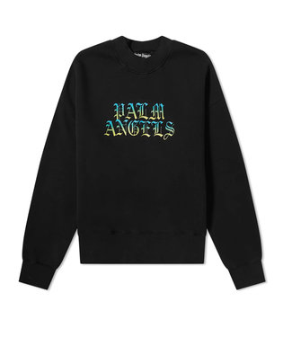 Palm Angels Palm Angels : Sweater Gothic logo-Black