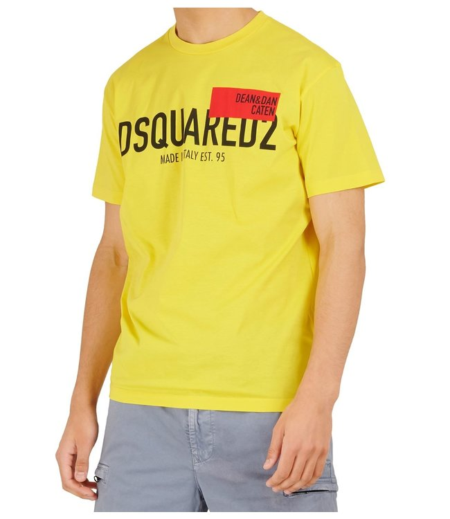 Dsquared2 Dsquared2 : T-shirt Red tag Yellow