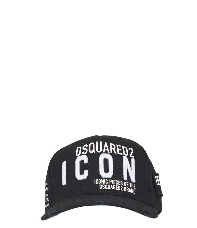 Dsquared2 Dsquared2 : Cap Icon-Black white-BCM0290