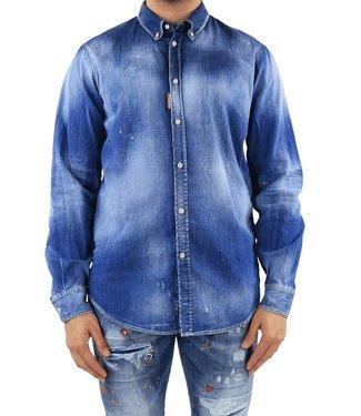 Dsquared2 : Denim Shirt-Blue
