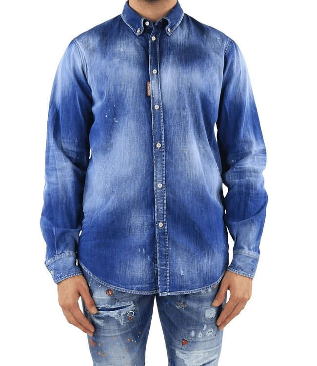 Dsquared2 Dsquared2 : Denim Shirt-Blue