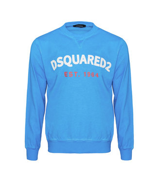 Dsquared2 Dsquared2 : Sweater Est.1964-Blue-S71GU0443
