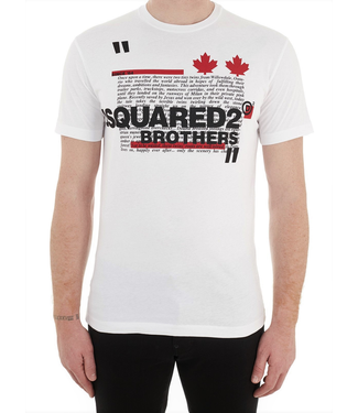 Dsquared2 Dsquared2 : T-shirt Brothers-White