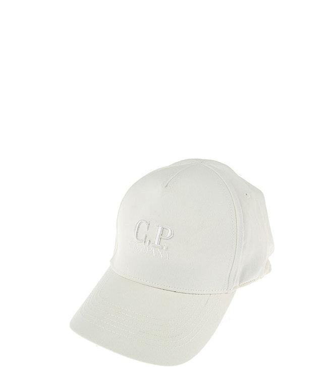 C.P Company Logo cap-Gauze white