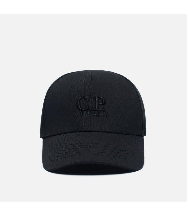 C.P Company Classic garbardine logo cap-Black