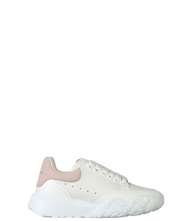 Alexander McQueen Wmn court trainers-White/patchouli