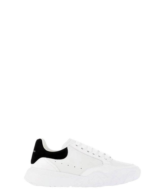 Alexander McQueen Wmn court trainers-White/black
