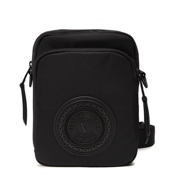 Versace Jeans couture Range emblem box bag Black