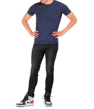 ICEBERG T-shirt chest patch-Blue melange