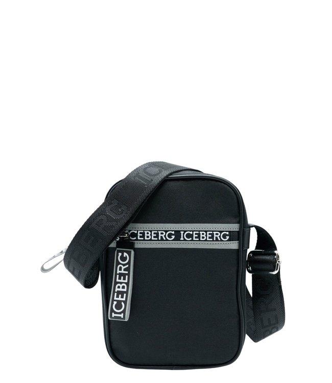 ICEBERG Bag zip logo-Black