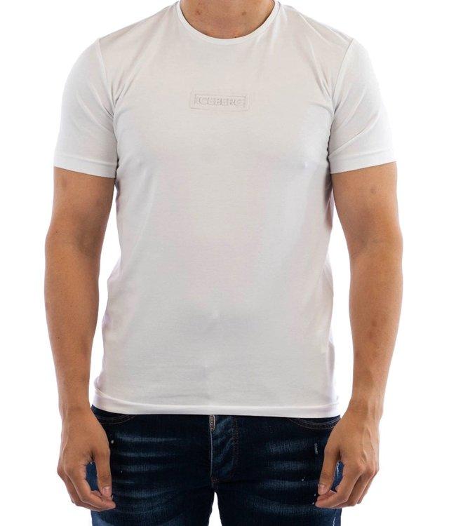 ICEBERG T-shirt chest patch-White
