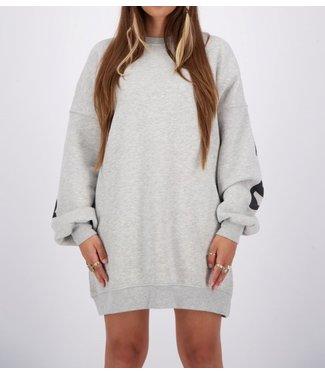 Reinders Yara fay sweater dress-Quit gray