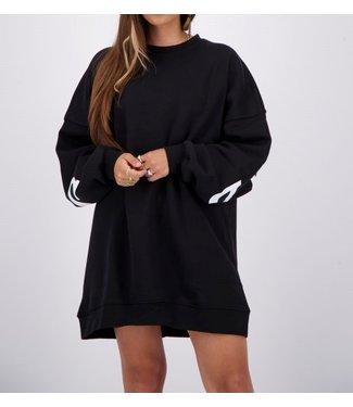 Reinders Yara fay sweater dress-Black