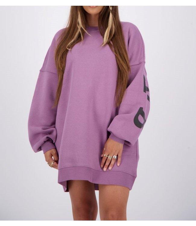 Reinders Yara fay sweater dress-Grapeade
