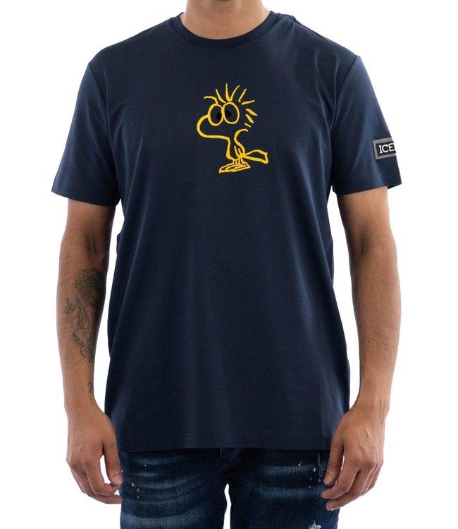 ICEBERG T-shirt Joe Cool -Blue melange