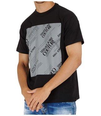 Versace Jeans couture T-shirt Square reflective-Black