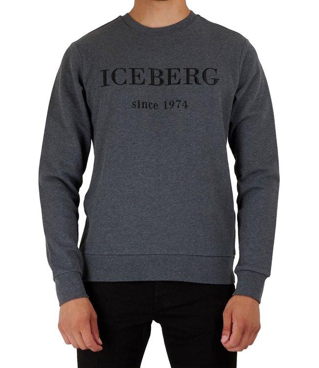 ICEBERG Logo sweater-Grey melange
