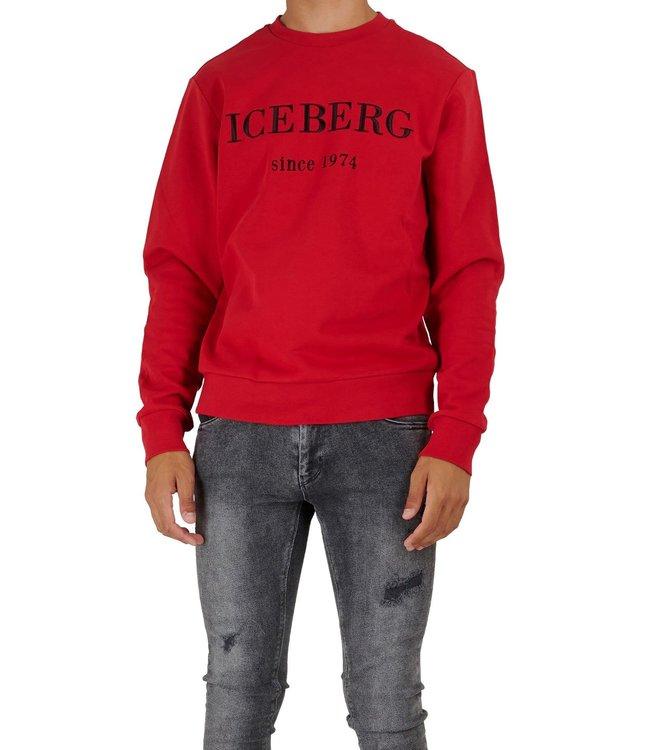ICEBERG Sweater logo Red