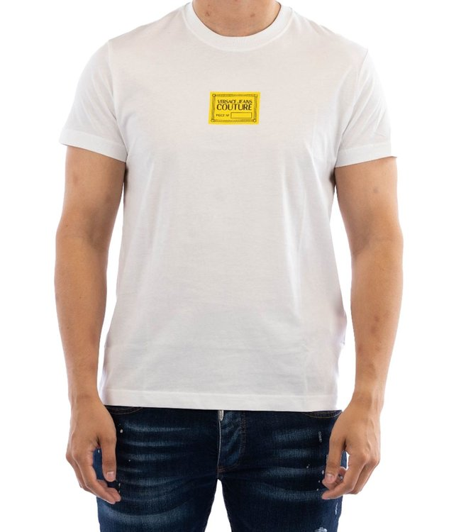 Versace Jeans couture T-shirt logo patch-White