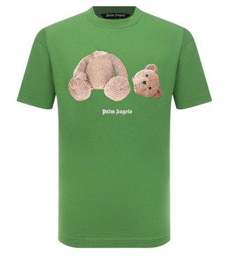 Palm Angels Tee Bear-Green-brown
