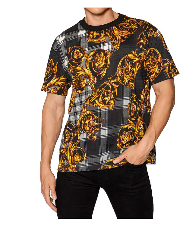 Versace Jeans couture T-shirt Highland Baroque print