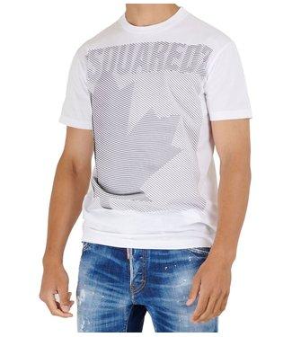 Dsquared2 T-shirt Maple graphic-White