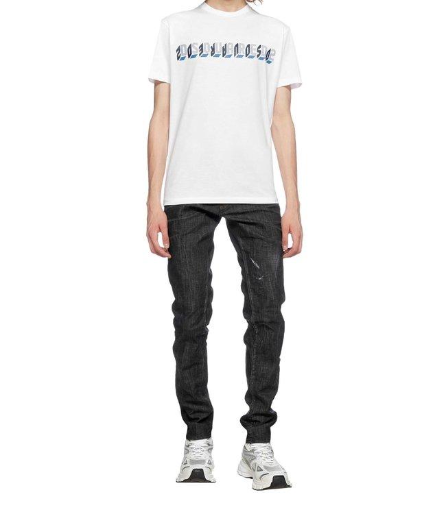 Dsquared2 T-shirt 3D logo-White