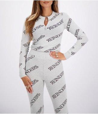 Reinders Top zipper all over-Quiet grey