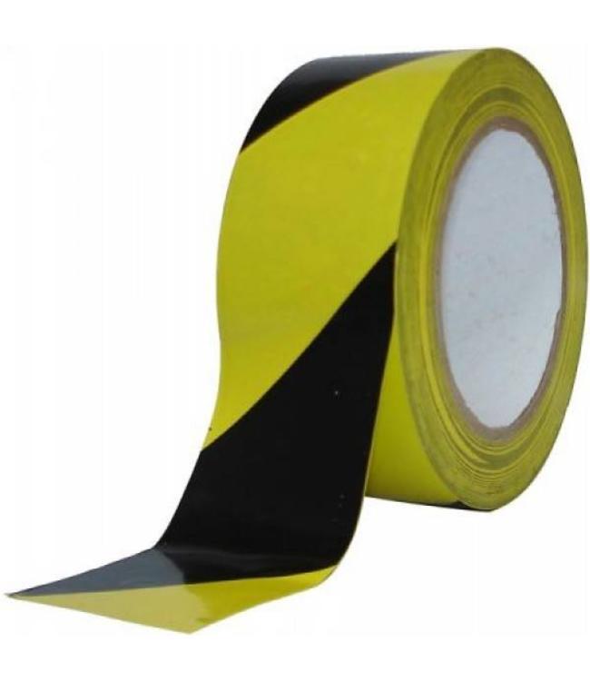TD47 Sicherheitsmarkierungsband 50mm x 33m Schwarz / Gelb