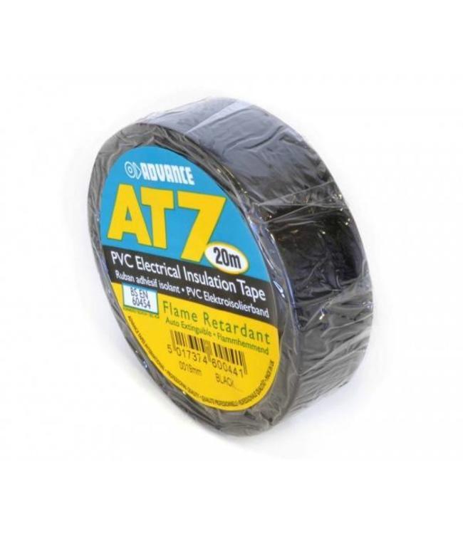Advance AT7 PVC tape 19mm x 20m Zwart