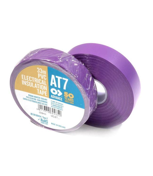 Advance AT7 PVC tape 19mm x 20m Paars