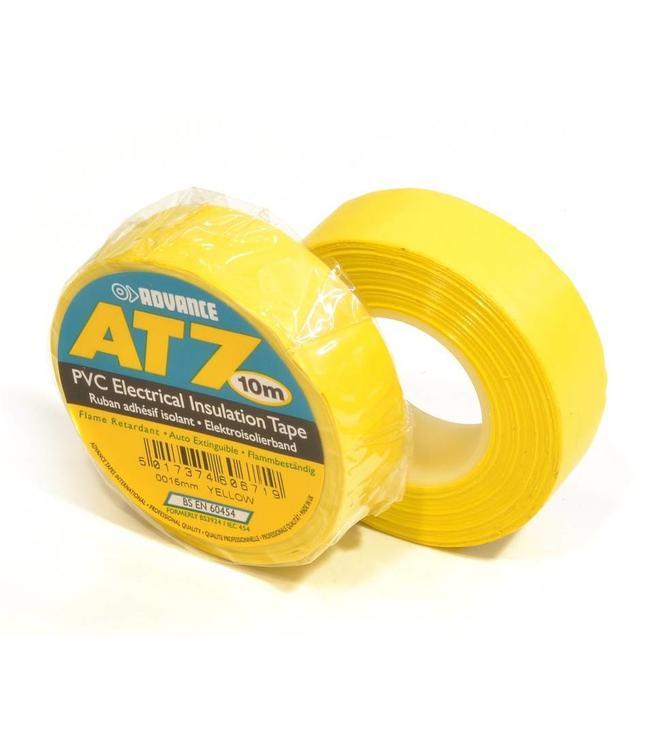 Advance AT7 PVC tape 19mm x 20m Geel