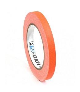Pro Tapes Pro-Gaff neon gaffa tape 12mm x 22,8m Oranje